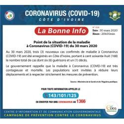 Info-53 : Coronavirus Côte d'Ivoire - Covid-19